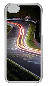 iPhone 5C Case Cover - Timelapse Road Custom PC Case Cover For iPhone 5C - Tranparent