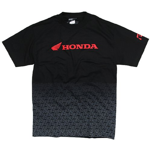 Factory Effex 15-88300  'Honda' Fade T-Shirt (Black, (Automotive Apparel)