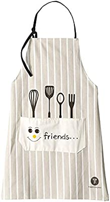 Birthday White Japanese-Style Apron with Large Pocket Waterproof Fabric Wedding /& Bridal Shower Gift for Ladies who Love Cooking Treperuno Kitchen Aprons for Women