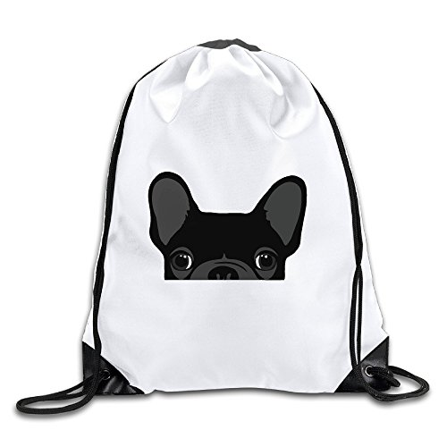 Cute Black French Bulldog Shoulder Bag White - Lohan Lindsay Style