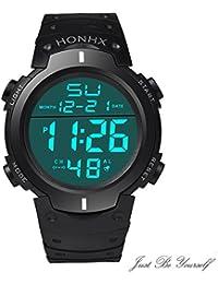 Men's Boy's Sport Waterproof LCD Digital Stopwatch Date...