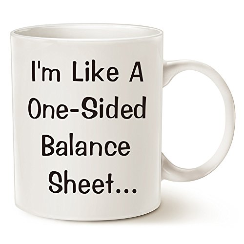 MAUAG Funny Accountant Pick Up Line Coffee Mugs - I'm Like A One-Sided Balance Sheet... - Best Gifts for Boss Cpa Porcelain Cup, White 11 Oz by LaTazas (Halloween Math Sheets Grade One)