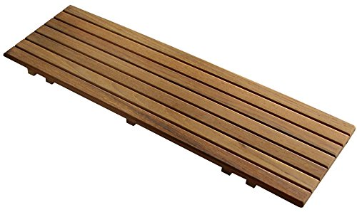 (Adjustable Teak Bathtub Shelf Seat | For tubs from 20-1/4