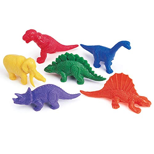 (Learning Resources Mini-Dino Counters, Educational Counting and Sorting Dinosaur Toy, Set of 108, Ages 3+)