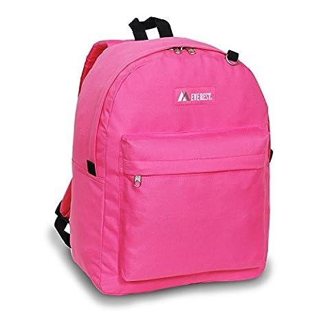 Everest Luggage Printed Pattern Backpack (One Size, Rose) - Everest Rose