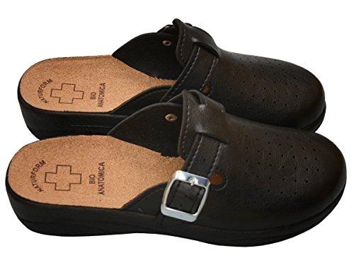 Hopital En Femme Sandales 41 Confort Chaussures Pour Bawal Cuisine Ou Mules Cuir Taille Dames 36 Modèle Liège Semelle noir 3512 3511 nYpqwq8fx