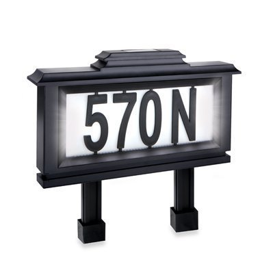 Emerson Solar-powered Lighted Address Stake by Emerson