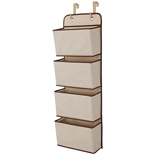 Delta Children 4 Pocket Over The Door Hanging Organizer, Beige by Delta Children