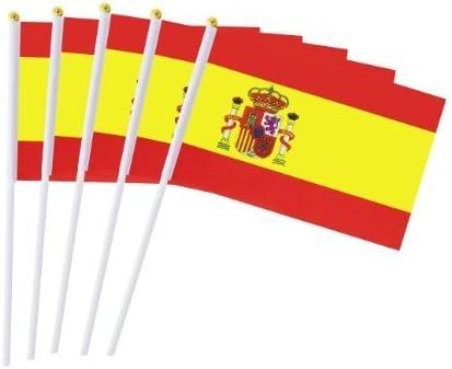 España Banderas de Mano Nacional 50 PCS 14 x 21CM,Mini Banderas ...