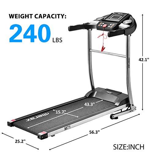 Merax Treadmill Easy Assembly Folding Electric Treadmill Motorized Running Machine by Merax (Image #1)