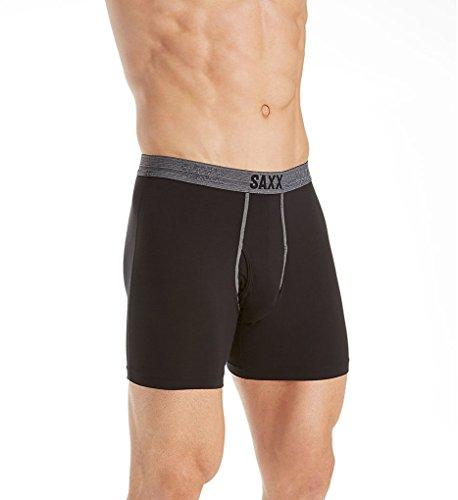 Saxx Platinum Boxer Fly Black L Mens Underwear