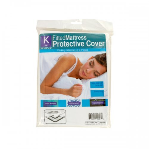 Price comparison product image bulk buys OL396 King Size Fitted Protective Mattress Cover, White