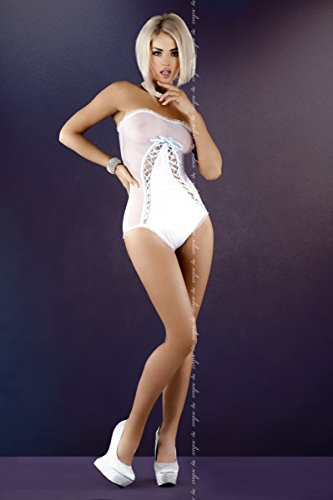 con mujer 'Body' White nupcial Aurelie cord para Xgg0xwH7