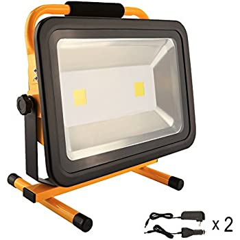 8 Hrs 100w Led Work Light Rechargeable Portable Flood