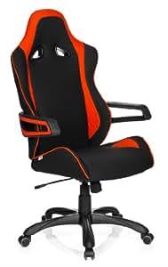 hjh OFFICE RACER PRO II - Silla gaming o de oficina, tejido negro y rojo