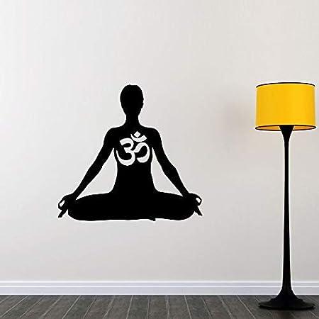 wangpdp Meditación Etiqueta de La Pared Om Art Home Decor Mural ...