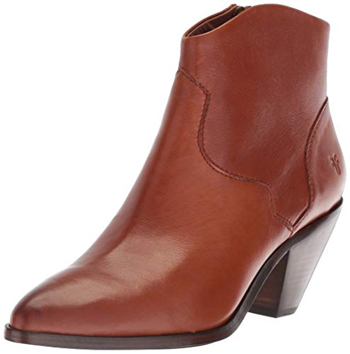 (FRYE Women's LILA Western Short Fashion Boot, Saddle, 10 M US)