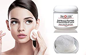 AntiAging Peel Pads-20% Glycolic Cell Renewal Peel Pads+ Salicylic, Lactic Acid, Argireline, DMAE