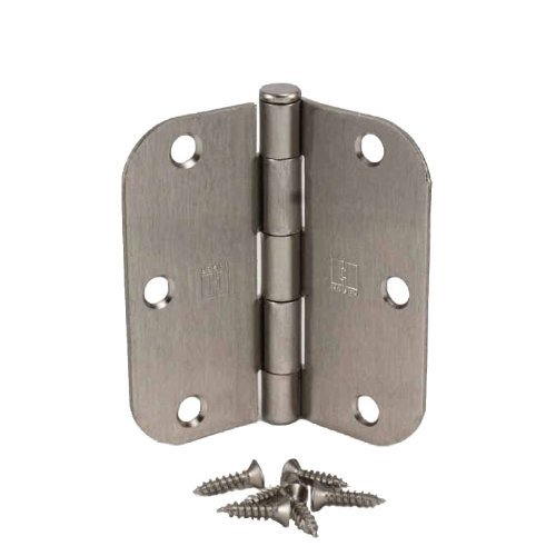 (Pack of 24) Hager 3 1/2 Inch Satin Nickel Door Hinges with 5/8'' Radius Corners