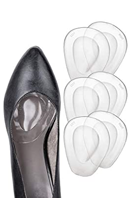Ball of Foot Cushions for Women High Heel - 3 Pairs (6 Pieces) - Soft Gel Insole Metatarsal Pads Shoe Inserts - Mortons Neuroma Callus Metatarsal Foot Pain Relief Bunion Forefoot Cushioning