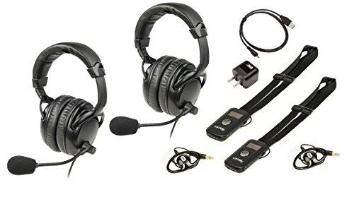Listen Technologies 2 Person ListenTALK Wireless Communication System (2 Over Ear Headsets) by Listen Technologies