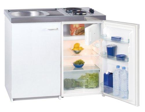 Mini Küchenzeile Mit Kühlschrank : Exquisit kk z mini küche weiß amazon elektro großgeräte