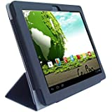 """Le Pan II 9.7""""/ Le Pan S 9.7"""" Tablet Custom Fit Portfolio Leather Case Cover with Built In Stand- Black"""