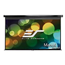 Elite Screens Manual, 100-inch 16:9, Pull Down Projection Manual Projector Screen with Auto Lock, M100UWH