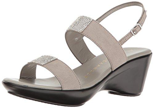 Athena Alexander Womens Skylaa Platform Dress Sandal Grey Suede