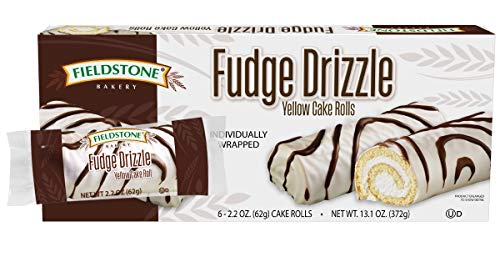 Fieldstone Bakery Fudge Drizzle Yellow Cake Rolls, 8 Boxes, 48 Individually Wrapped Cake Rolls