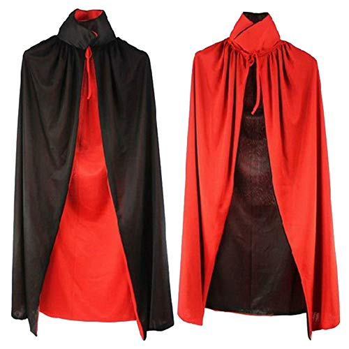 Fashion Black and Red Reversible Halloween Christmas Cloak