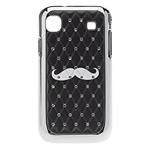 Buy Mustache Pattern Hard Case with Rhinestone for Samsung Galaxy S I9000
