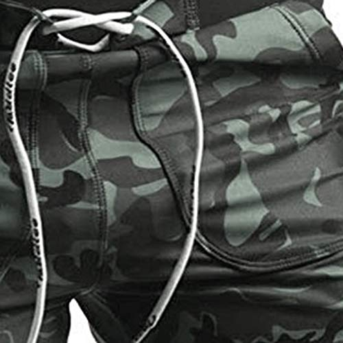 Huaa Men's Breathable Swim Trunks Quick Dry Casual Swim Shorts Camouflage Pants by Huaa (Image #2)