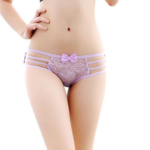 Gotd Women Sexy Lace Briefs Panties Thongs G-string Lingerie Underwear (Purple) (Sexy Thanksgiving Pictures)