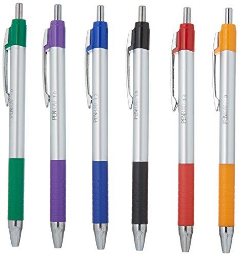 (PenRoad Retractable Advanced Ink Pen, 1.0 mm, Black, 24 Count)