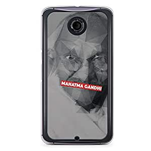 Mahatma Gandhi Nexus 6 Transparent Edge Case - Heroes Collection