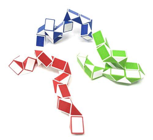 Challenge Bundle Party (Sensory Fidget Snake Cube Twist Puzzle by OTTC, Our Sensory Fidget Toy Bundle Set Provides Hours of Stress Reduction, Set of 3)