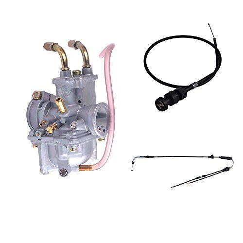 FLYPIG New Carburetor Throttle Gas Choke Cable Air Filter Box Assembly for Yamaha PW50 1981-2009