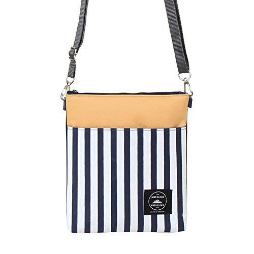 Widewing Shoulder bags for women Mini Oxford Cloth Single Shoulder Bag Digital Stripes Travel Messenger Bag B