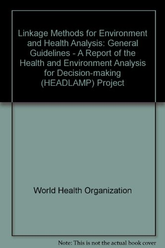 Linkage Methods for Environment and Health Analysis: General Guidelines