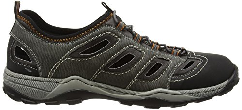 Rieker 08065 Sneakers-men - Zapatillas Hombre Gris (Schwarz/rauch/rauch / 02)