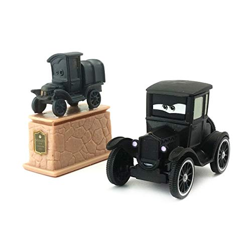 Disney Disney Pixar Cars Lizzie and Stanley Statue 1:55 Diecast Metal Alloy Toy Car Model Kids Boy Xmas Gift (Diecast Statue)