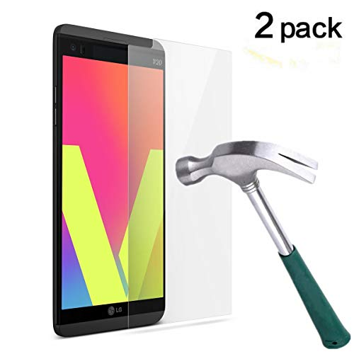 LG V20 Screen Protector,TANTEK Anti-Bubble,HD Ultra Clear,Scratch Resist,Premium Tempered Glass Screen Protector for LG V20,-[2-Pack]