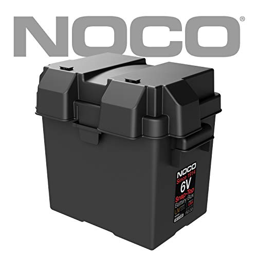 NOCO Black HM306BKS Single 6V Snap-Top Box for Automotive, Marine, and RV Batteries (Best States For Black Singles)