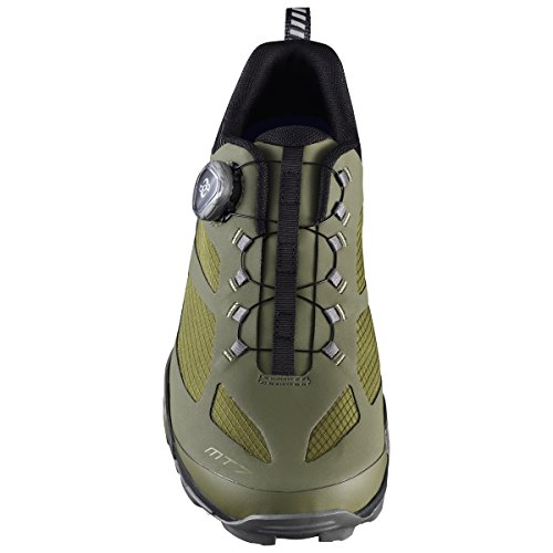 SHIMANO SHMT7PC430SO00 - Zapatillas ciclismo, 43, Verde, Hombre