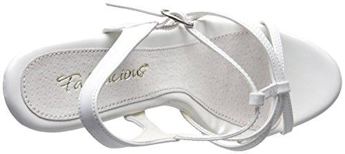Sandal white Flair Women's Fabulicious 420 patent white 7waFwqt