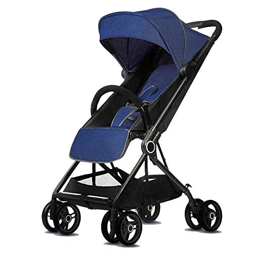 (XINCH Pushchairs Folding Pushchair Lockable Wheels & Spacious Adjustable Hood with Compact One Hand Fold Suitable for 0-3 Years Old BB Car)