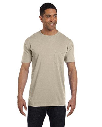 (Comfort Colors 6.1 oz. Garment-Dyed Pocket T-Shirt 2XL SANDSTONE)