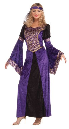 [Forum Medieval Maiden Deluxe Costume, Purple/Black, Standard] (Renaissance Costumes Womens)