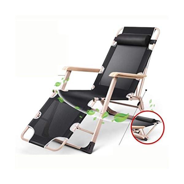 MXueei Regolabile Poltrona Chaise, con poggiatesta Sedia gravità bracciolo reclinabile Lounger Zero Nap Bed Sedia… 5 spesavip